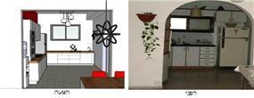 מטבח, דירת גג, תל אביב - MB Design