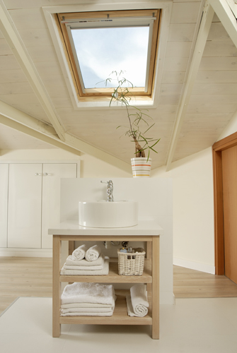 חדר רחצה, עליתת גג - גלית אבינועם אדריכלות ועיצוב פנים