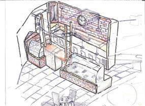 קפה סאדא - Rכיטקטורה