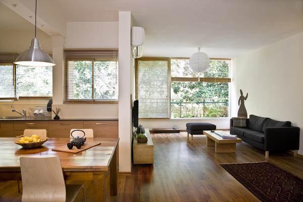 סלון ומטבח, בית משפחת קול - גלעדי דובר אדריכלות וניהול פרויקטים