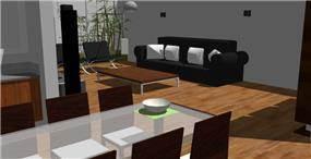 סלון ופינת אוכל, בית משפחת קול - גלעדי דובר אדריכלות וניהול פרויקטים