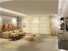 סלון בבית פרטי בעיצוב ותכנון רוני שגב
