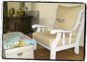 כסא עתיק בשיפוץ בשמת גל בהתאמה אישית