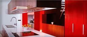 שיש בצבע אדום עמוק מבית שיש כהן עיצובי שיש ומטבח