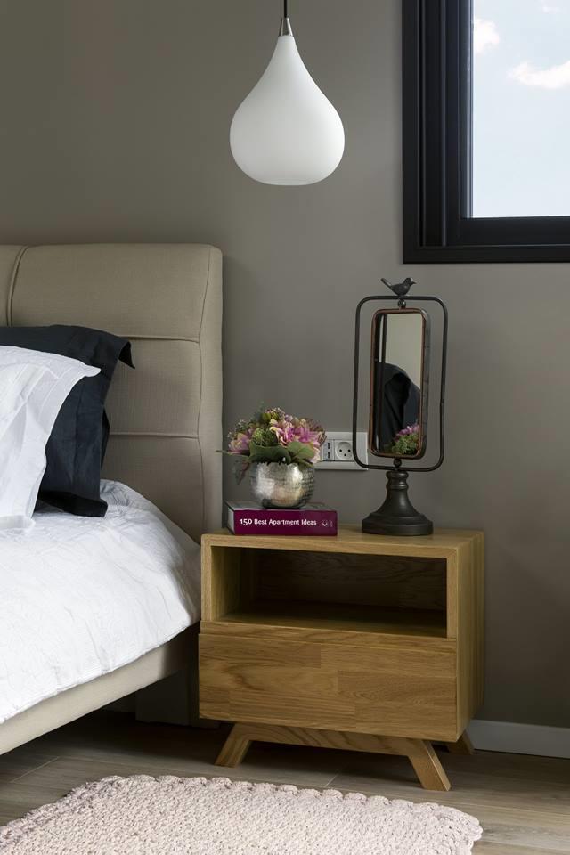 שידה מעוצבת בחדר שינה מעוצב