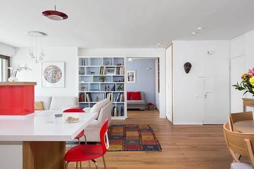 עיצוב פנים של בית מודרני - מבט מזווית נוספת לסלון