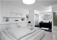 חדר שינה בפרוייקט בגן חיים בעיצוב אמיר שלח