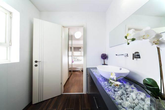 חדר רחצה מעוצב, ענבר מנגד - תכנון ועיצוב פנים