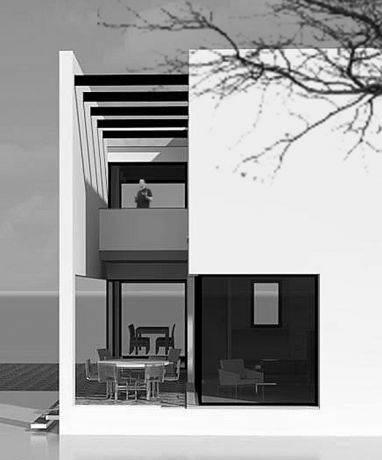 חלל כניסה- בי אדריכלים