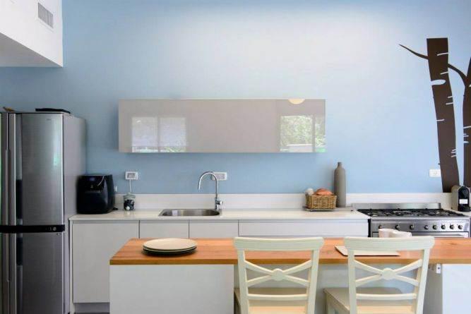 דירת גן ברחוב שינקין, גבעתיים. מטבח מעוצב, פרטים-סטודיו לאדריכלות ולעיצוב