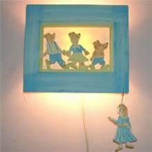 מנורת ילדים 19 בצורת זהבה ו-3 הדובים