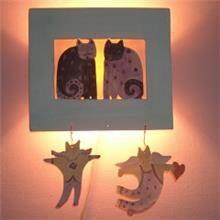 מנורת ילדים 20 בצורת 2 חתולים
