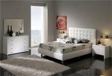 מיטה מעוצבת לבנה - DUPEN (דופן)