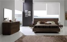 מיטה מעוצבת בצבע עץ - DUPEN (דופן)