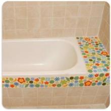 מדף צבעוני לאמבטיה