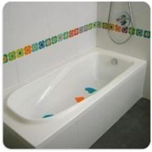 פס פרחוני לאמבטיה