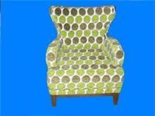 כורסא מעוצבת עם דוגמא מיוחדת