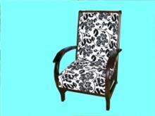 כורסא מעוצבת בדוגמאות פרחים