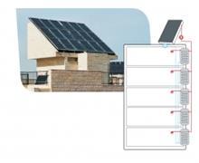 מערכת סולארית לחימום מים במבנה מדורג