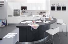 מטבח מעוצב לבן אפור