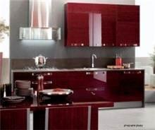 מטבח מודרני אדום מבריק