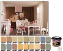 צבעים לקיר פנימי במראה דמוי זמש