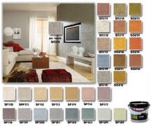 צבעים לקירות במרקם חולי