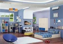 חדר ילדים כחול לבן
