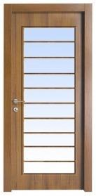 דלת בגוון עץ למינטו פירנצה אגוז אורך 10 חלונות