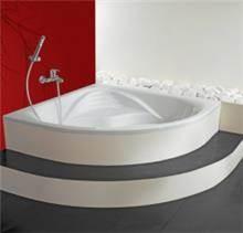 אמבטיה מעוצבת משולשת