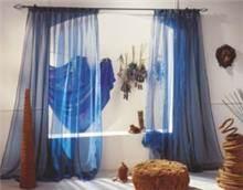 וילון אורגנזה כחול