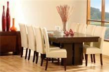 שולחן אוכל וכסא קרם