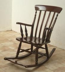 כסא נדנדה מעץ מלא - Treemium - חלומות בעץ מלא