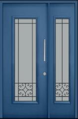 דלת וחצי כחולה מפלדה