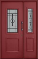 דלת וחצי מעוצבת לחזית הבית