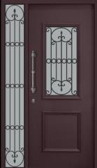 דלת כניסה כנף וחצי שחורה