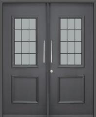 דלת כניסה כפולה בצבע שחור