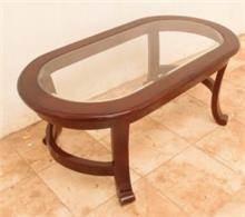 שולחן אובאלי מעץ מלא