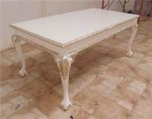 שולחן לסלון בעיטורי זהב - Treemium - חלומות בעץ מלא