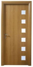 דלת בציפוי למינטו עגול, טנגניקה, עם 6 צוהרים