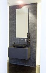 ארון אמבטיה תלוי אפור