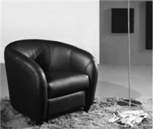 כורסא שחורה משענת מעוגלת - היבואנים
