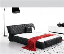 מיטה זוגית שחורה ומפוארת - היבואנים