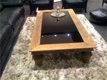 שולחן סלון משולב זכוכית