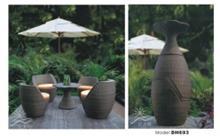 פינת ישיבה לגינה בגוון חום