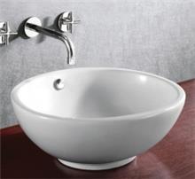 כיור אמבט לבן אובלי