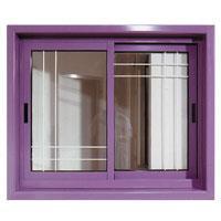 חלון הזזה דו כנפי זכוכית בידודית בשיבוץ
