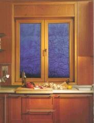 חלון ציר דו כנפי עץ-אלומיניום