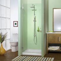 מקלחון חזית דלת שקופה