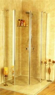 מקלחון פינתי מעוגל